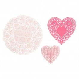 SO PRETTY! Pink N Mix Doilies - Set of 30
