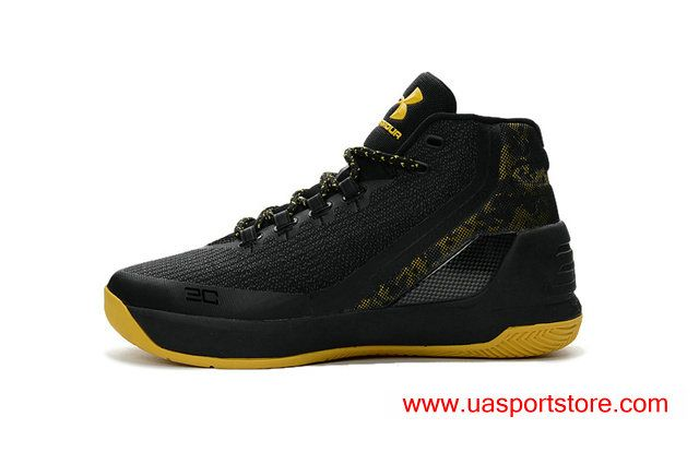 2ebba21e ... netherlands offical ua curry 3 sc camo taxi black yellow mens  basketball shoes b8cc4 49095