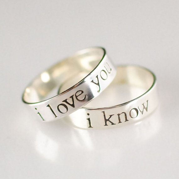 Star Wars Rings Han & Leia Pair of Solid by SpiffingJewelry, $90.00