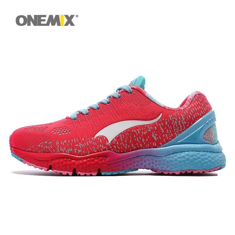 b9942d87c17 Onemix Women s running shoes red sneakers light breathable neutral sports  shoes mesh stability fashion yoga shose