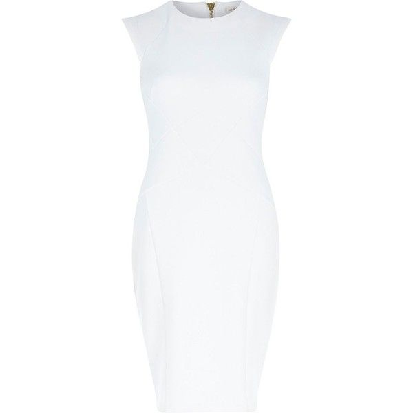 River Island White Bodycon Pencil Dress 29 Liked On Polyvore