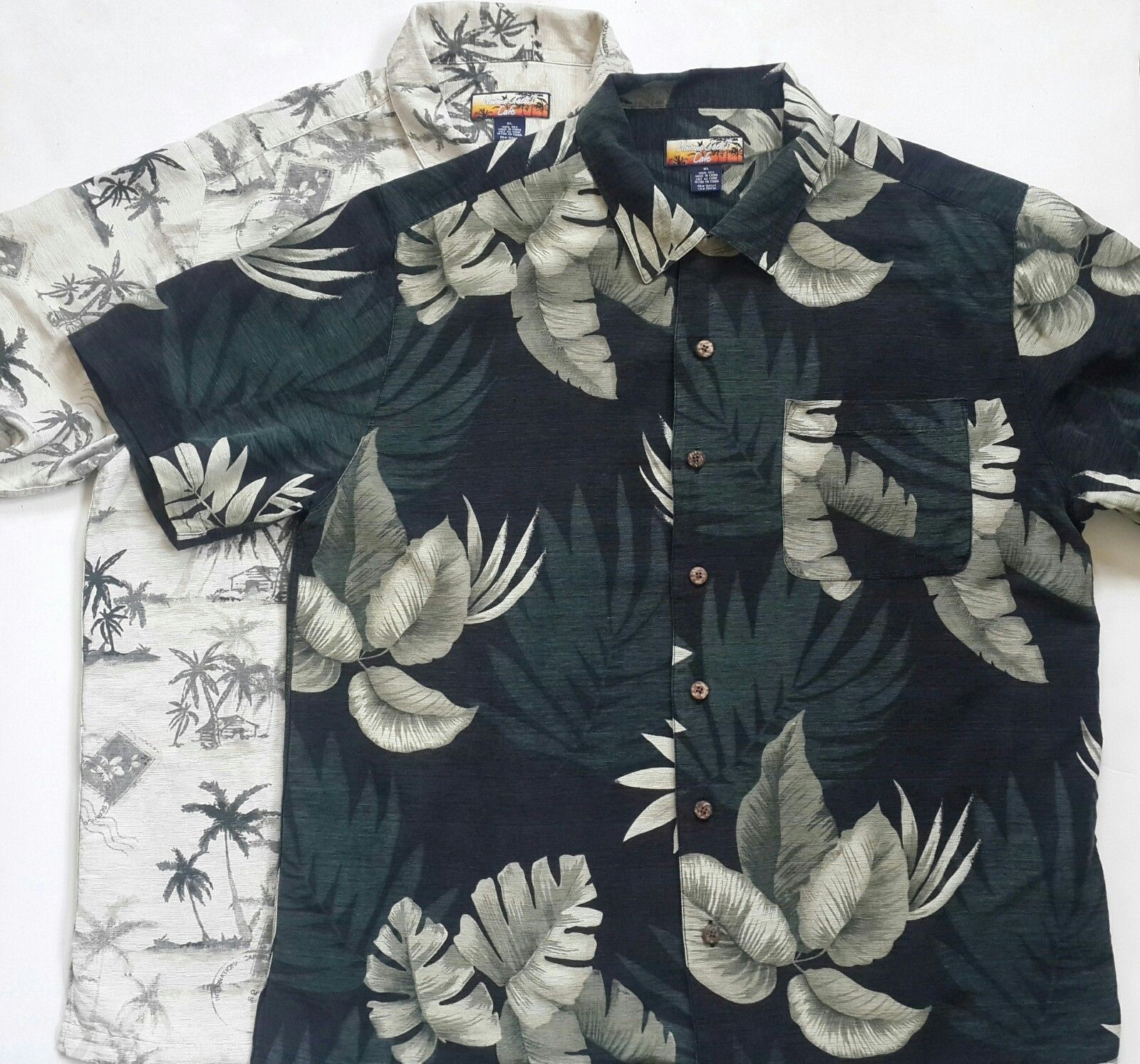 de11e8bd Havana Jacks Cafe XLarge Mens Hawaiian Shirt Floral Pattern %100 Silk Set  of 2 XL Havana Jacks Cafe Hawaiian shirt set. Both shirts are in great  shape and ...