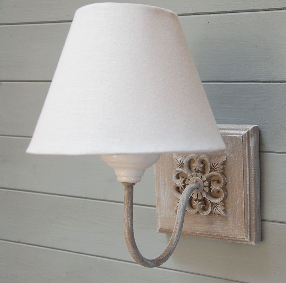 Holt Grey Washed Wall Light With Ivory Linen Shade Wall Lights Wooden Wall Lights Wall Sconces Bedroom
