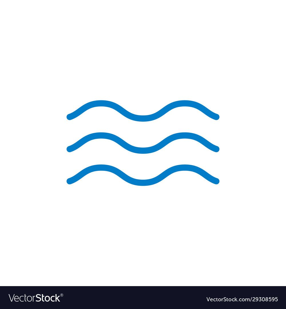 Wave Line Icon Water Vector Sea Flat Ocean Graphic Symbol Wave Minimal Logo Download A Free Preview Or High Quality Adobe Ill Waves Line Line Icon Water Icon