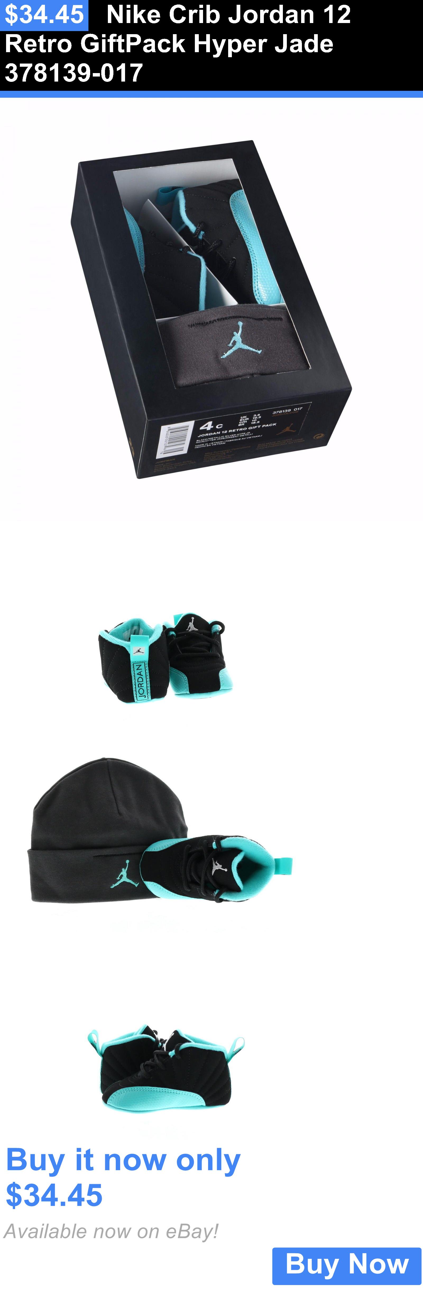 5d148534331f2 Infant Shoes  Nike Crib Jordan 12 Retro Giftpack Hyper Jade 378139-017 BUY  IT NOW ONLY   34.45
