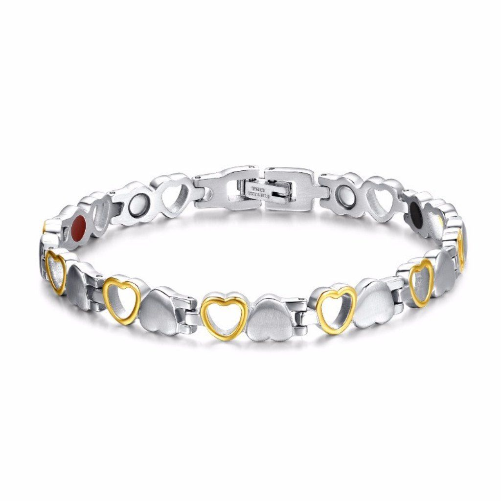 Rainso New Ladies Magnetic Health Stainless Steel Bracelet Strong Magnets in Gift Bag+Free Removal Tool kbjqUtVIx