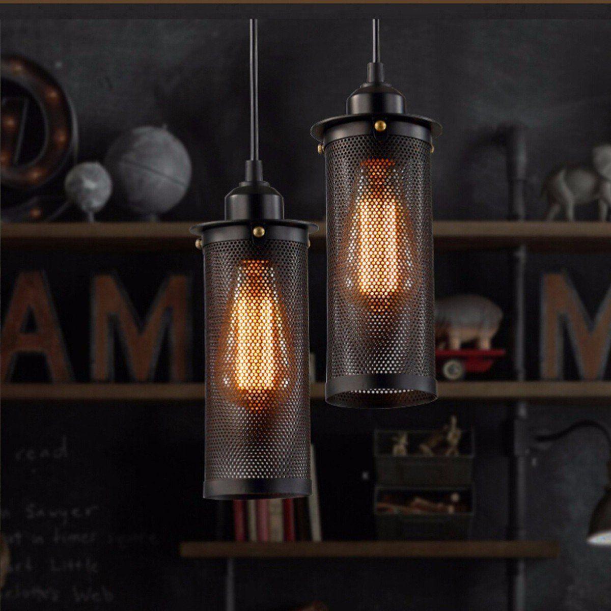 KINGSO Lampe Suspension Abat jour avec Douille E27 Lustre Plafonnier