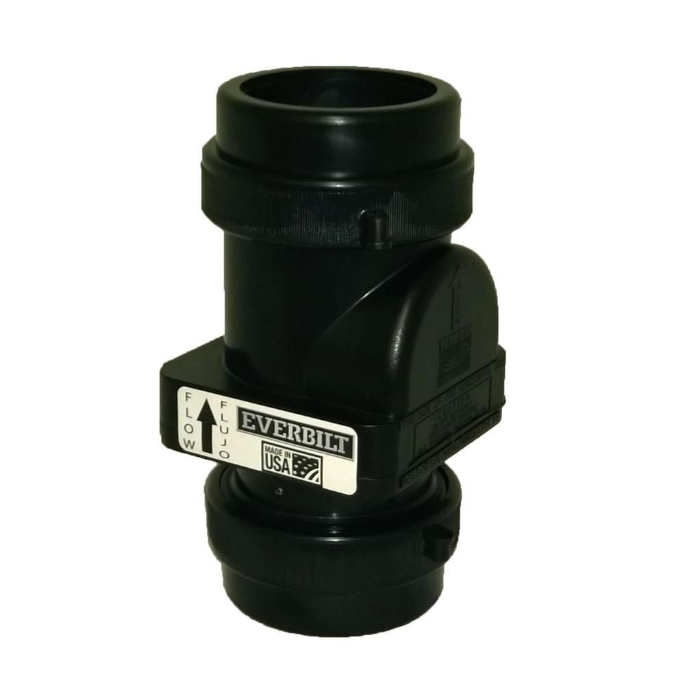 Everbilt 2 in sewage check valve with compression