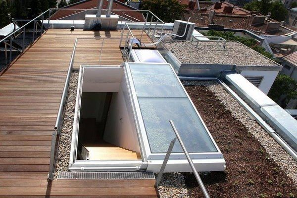 Roof Access Sliding Roof Hatch Wooden Deck Roof Top Desing Ideas Claraboias Claraboia Terraco
