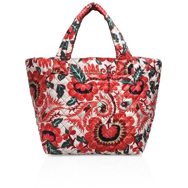 MZ Wallace Metro Small Tote ($195) ❤ liked on Polyvore featuring ... : quilted floral tote bags - Adamdwight.com