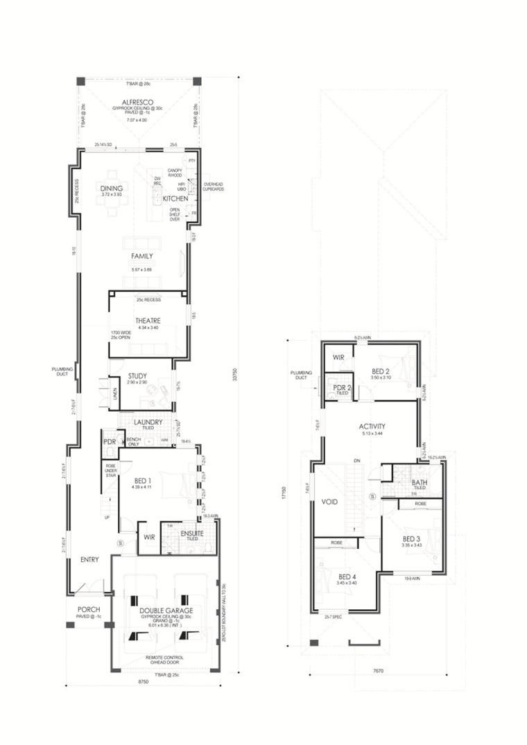 Narrow Lot Double Storey Homes Plans House Design Ideas