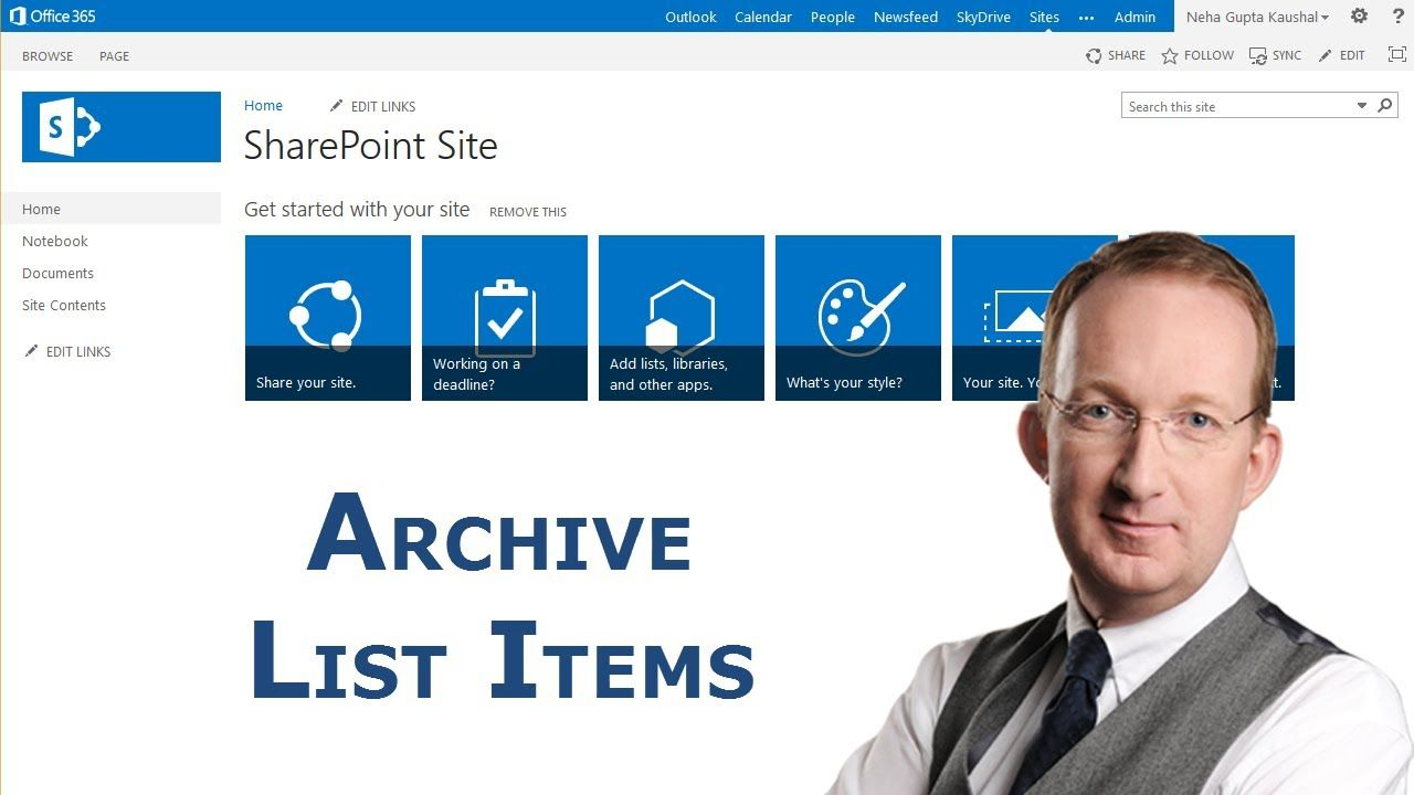*Archive Closed SharePoint List Items* Learn how to create a SharePoint 2013 workflow that archives a copy of an item when its status is Closed and removes it from its original list. Also refer to http://www.kalmstrom.com/Tips/Archive_SharePoint_List_Items.htm