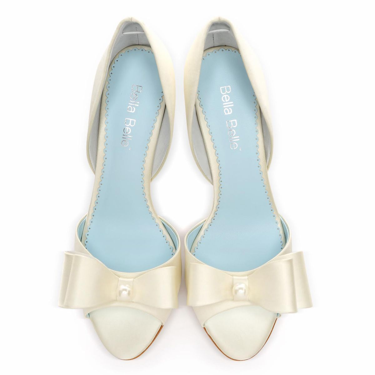 Ivory Pearl Wedding Shoes With Bow - Julia Ivory | White wedding ...