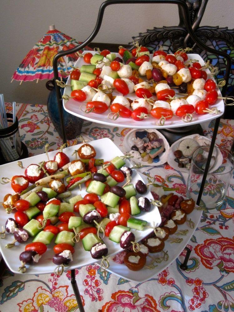 Kalte Platten Garnieren Party Anrichten Teller Haeppchen Oliven