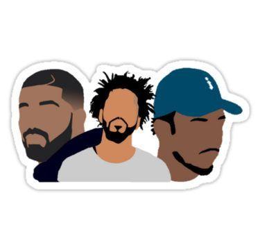 Drake j cole kendrick lamar stickers