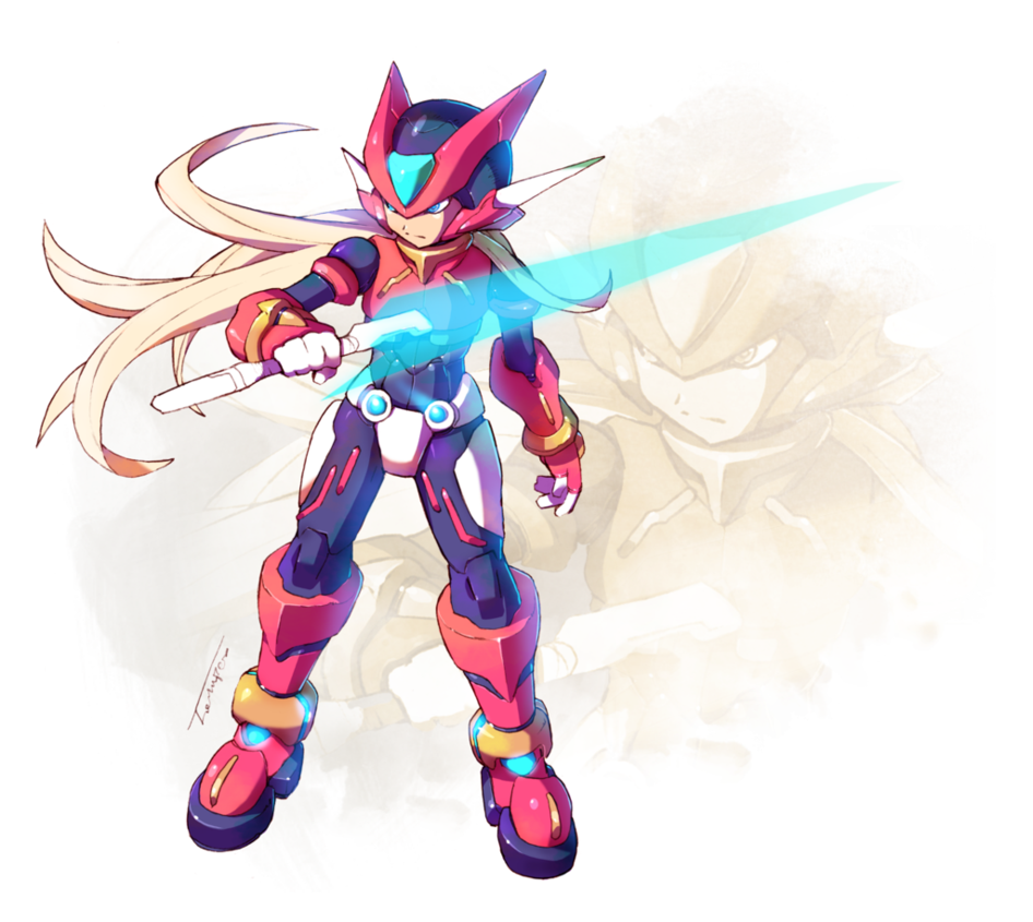 Zero Light Armor V2 Mega Man Art Mega Man Character Design Male
