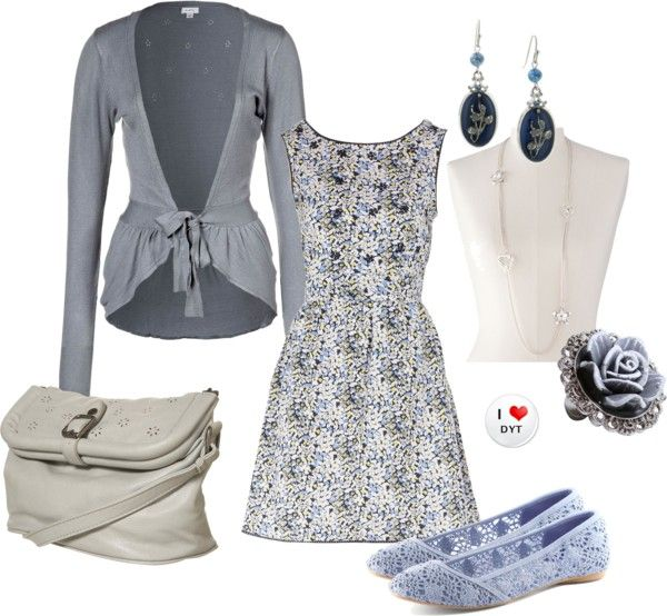 """""""Cloudy with a Chance of Flowers"""" by clothingcoop ❤ liked on Polyvore"""