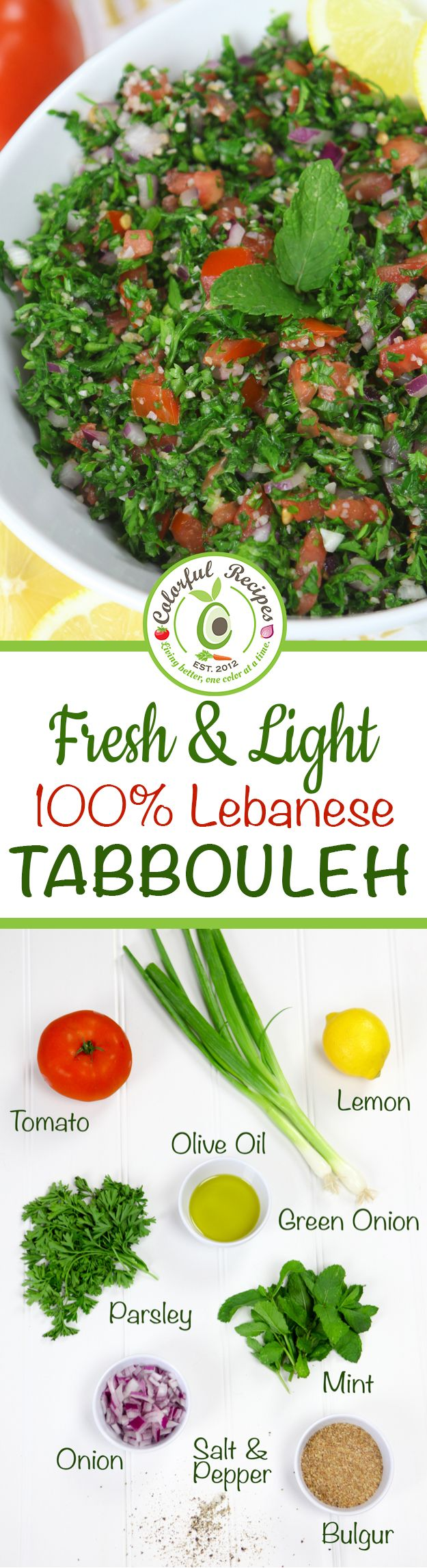 Libanesische Küche 100 Rezepte Fresh Light Authentic Lebanese Tabbouleh