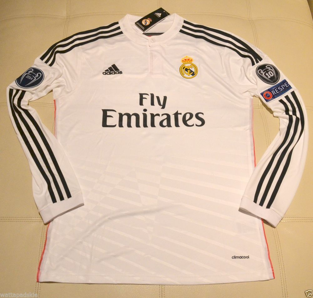 168d033c7 Real Madrid Cristiano Ronaldo home Champions League jersey long sleeve 14-15   adidas