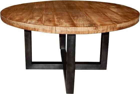 Eettafel rond uitschuifbaar hout eettafel pinterest table