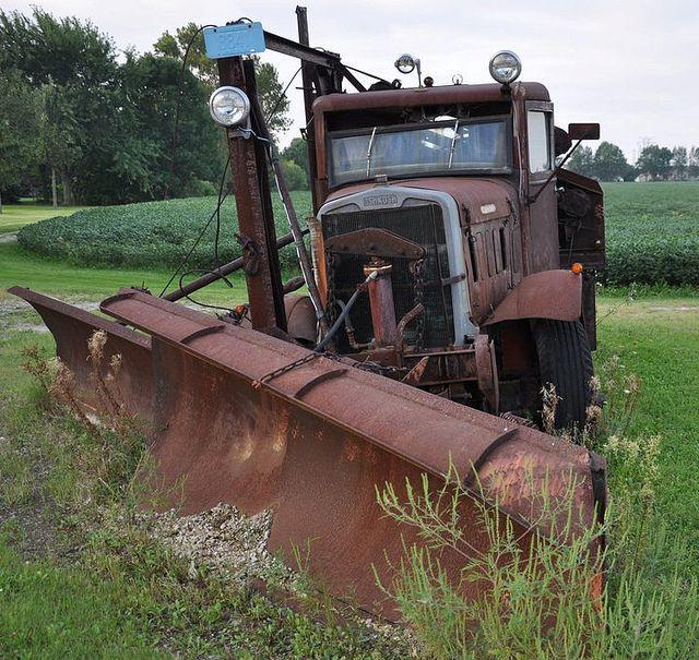 Toys For Trucks Appleton : Old oshkosh plow truck in appleton wi snow