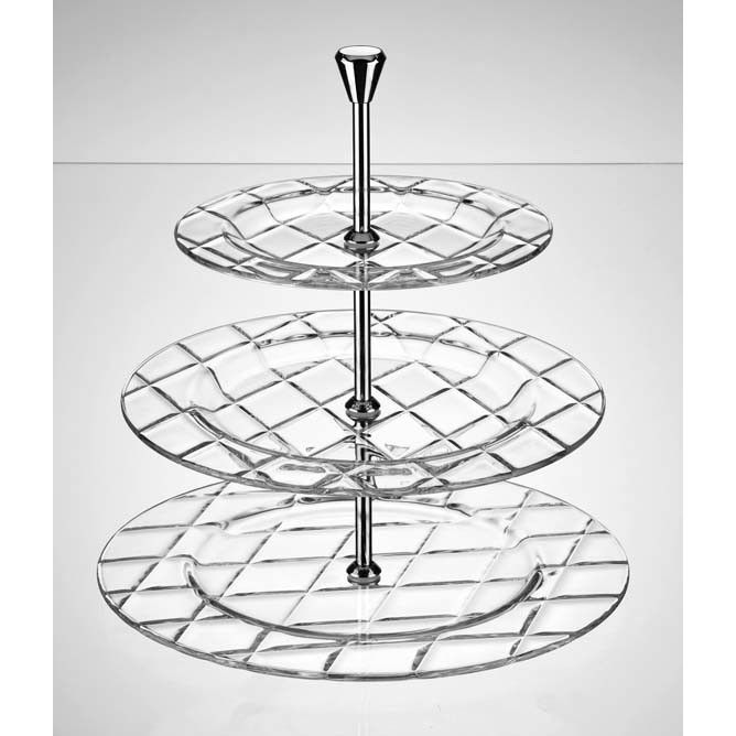 Concerto Tiered Stand Tiered Stand Tiered Cake Stand Glass Cake Stand