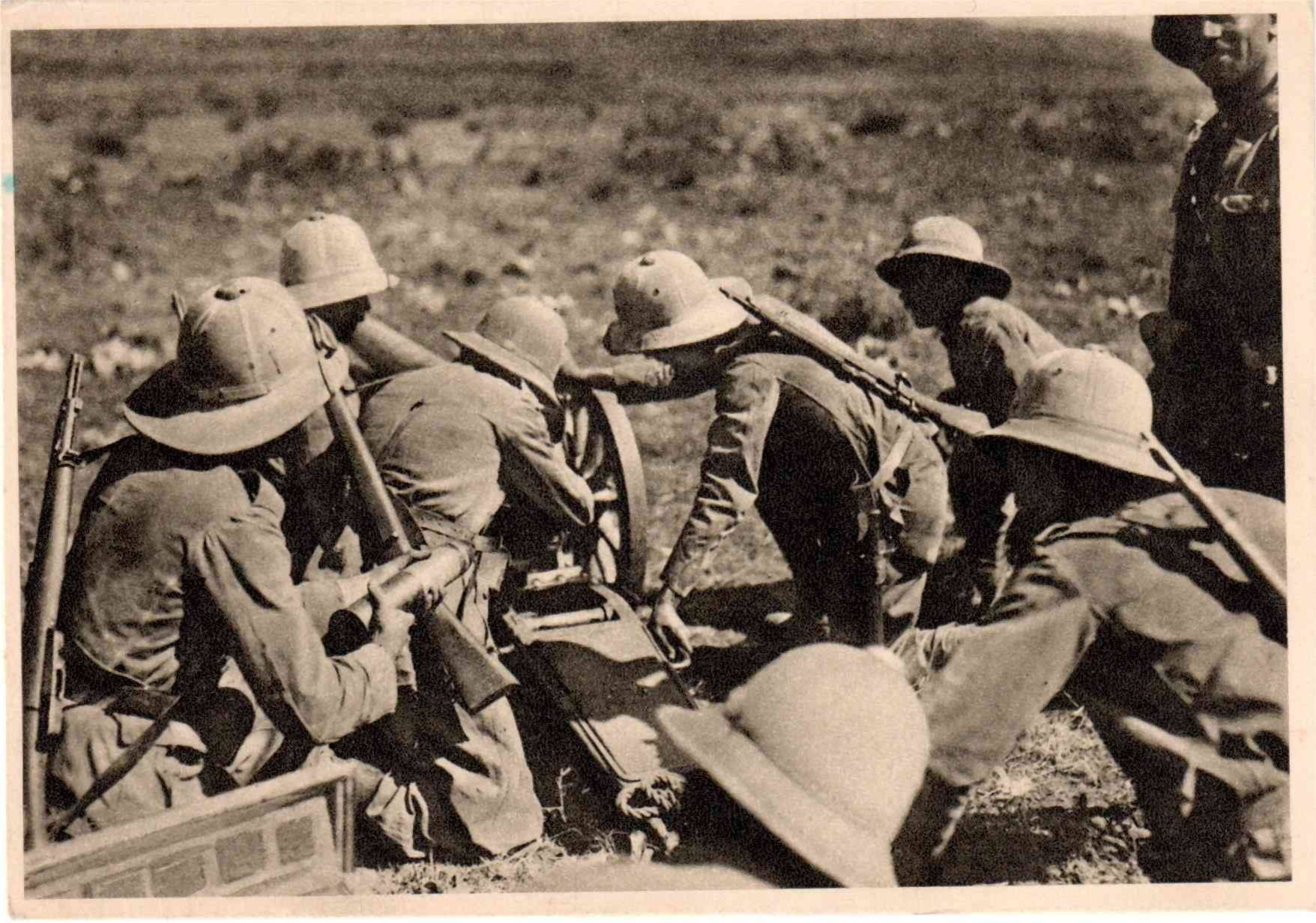 Etiopia 1936 B Batterie 28 Ottobre Ascari Eritrei Verso Dessie Italian Army War Blackshirts