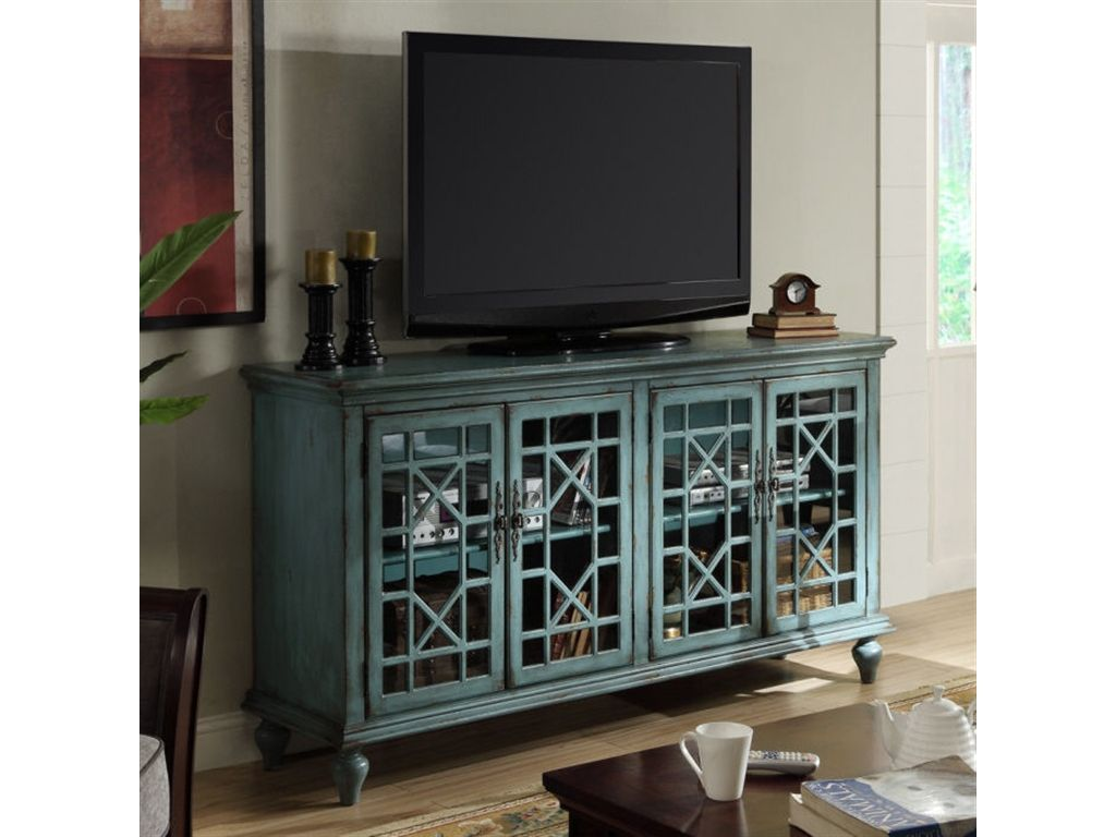 Coast To Coast Accents Living Room 4 Door Media Credenza 39620   Babettes  Furniture   Leesburg