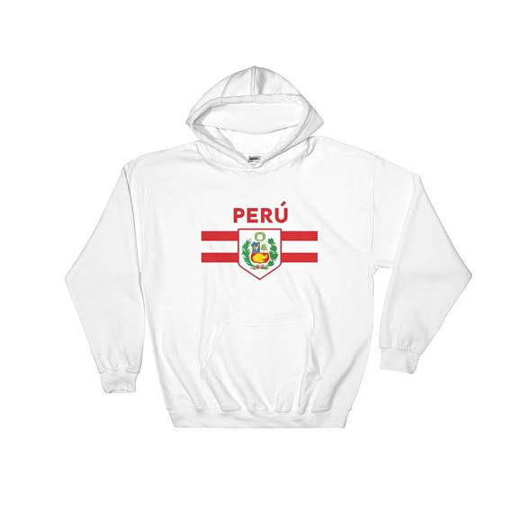a295c49dad4 Peru Soccer Fan World Cup Jersey Hoodie Futbol Football Peruvian ...