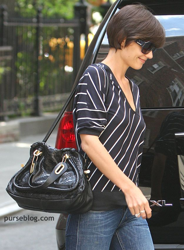 Short Bob Side View Hair Pinterest Frisuren Katie Holmes And