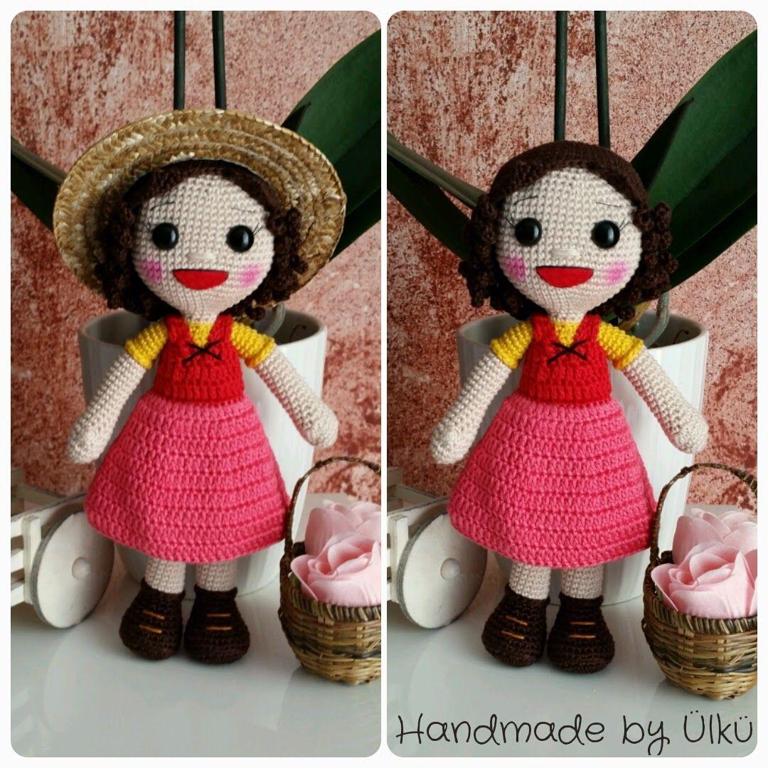 Handmade by Ülkü: Amigurumi Puppe Heidi / Doll / Heidi Bebek | Girl ...