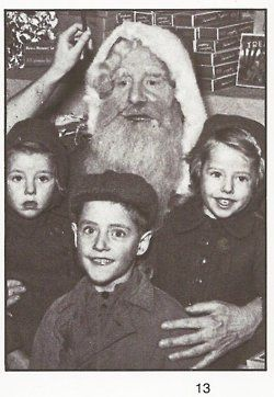 Little Roger with Santa and sisters