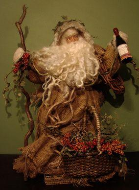 Wine maker santa