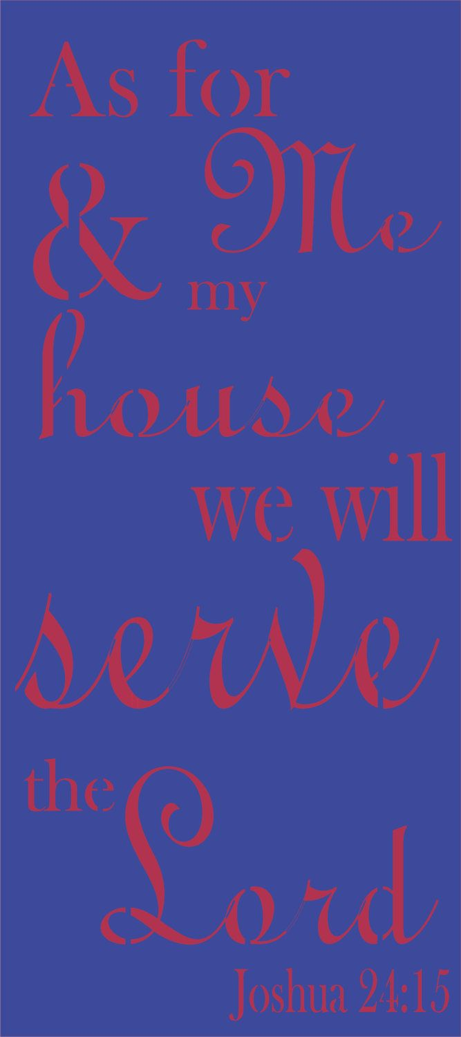 As for me and my house we will serve the lord, stencil, painting, diy, crafting, craft, christian, religious, signs, sign, decor,