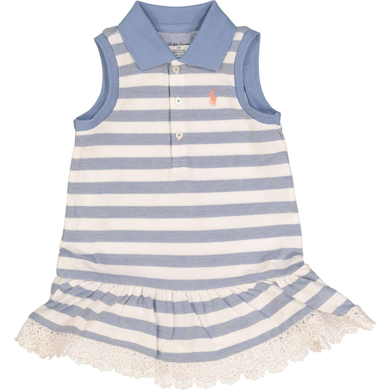 Blue & White Striped Polo Shirt Dress