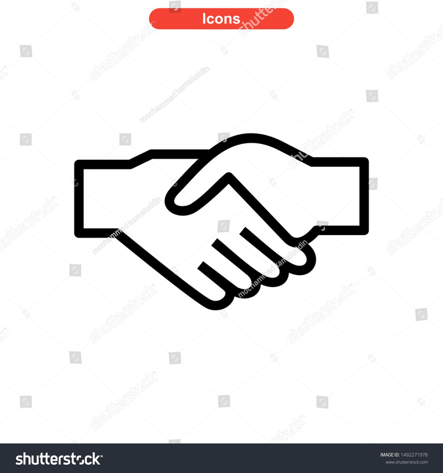 Handshake Icon Isolated Sign Symbol Vector Illustration High Quality Black Style Vector Icons N Sponsored Sponsored Si In 2020 Paint Designs Sales Image Vector