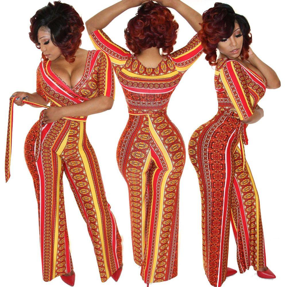 2016 새로운 죄수 복 여성 전체 섹시한 패션 높은 허리 점프 슈트 긴 바지 장난 꾸러기 플러스 사이즈 붕대 장난 꾸러기 띠