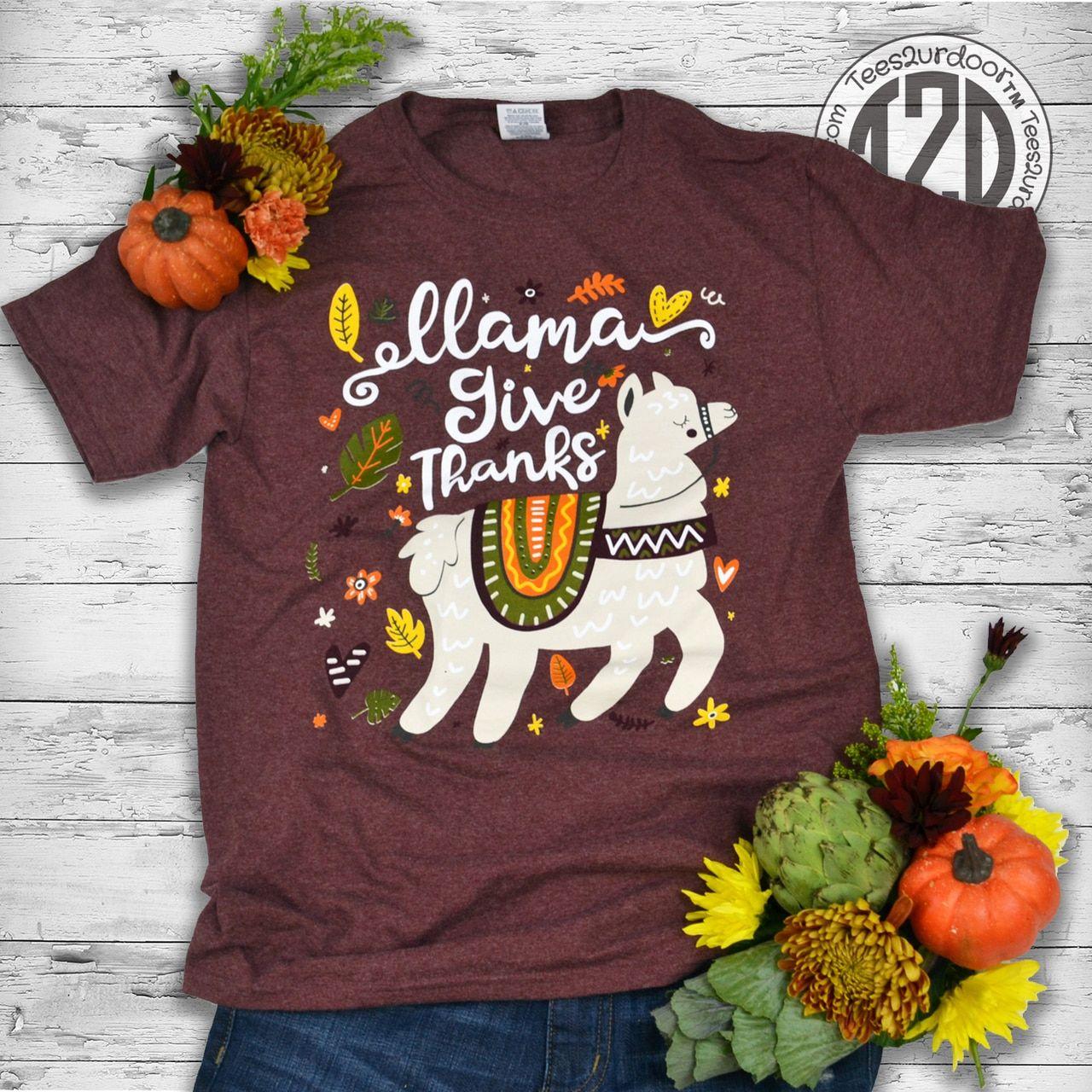 Llama Christmas Shirt.Llama Give Thanks T Shirt Crafts Shirts T Shirt Shirts