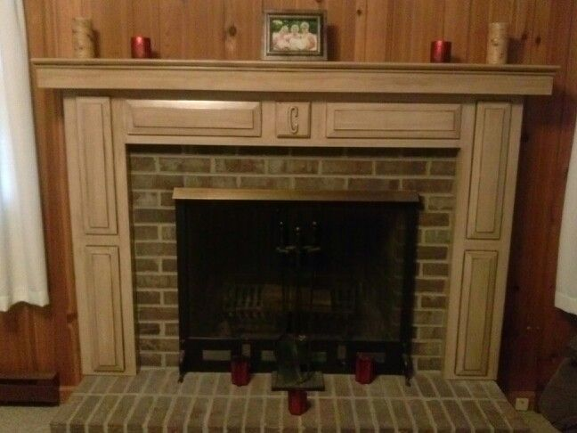 Fireplace surround added thanks for the idea pinterest