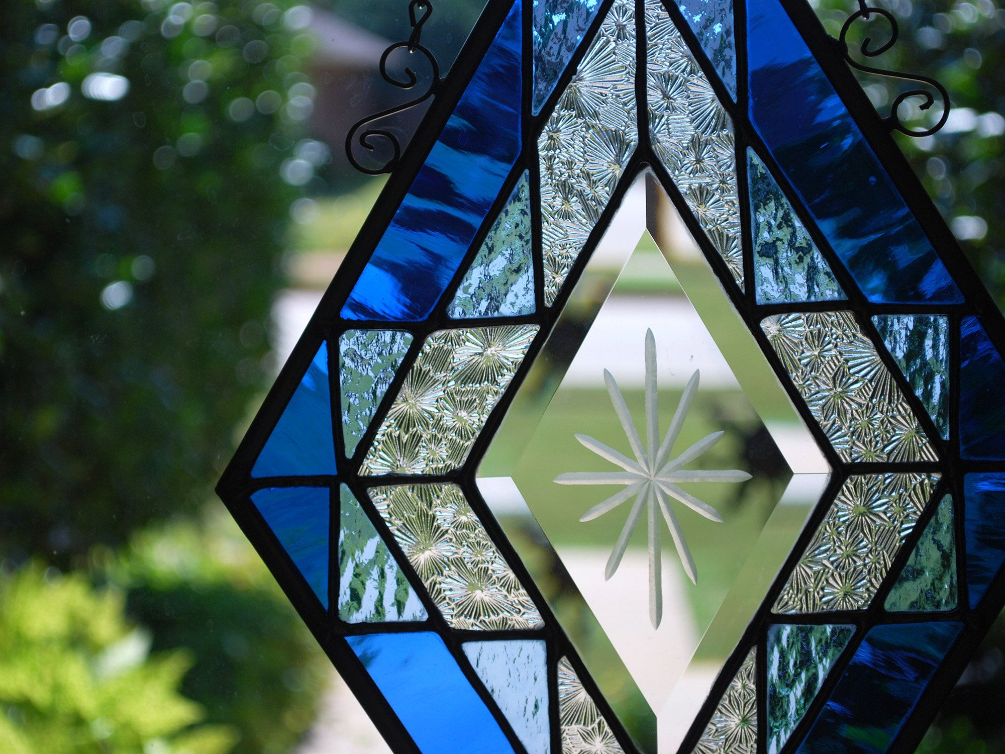 Diamond Shape Stained Glass Beveled Glass decoration