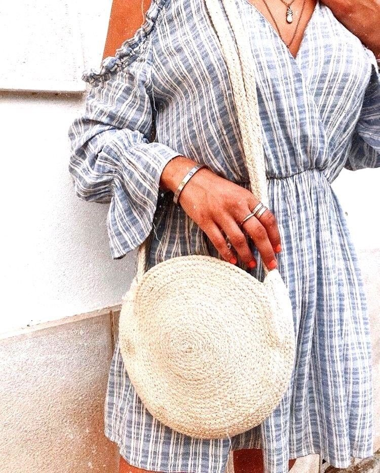 f2362c7ec971 ZARA Blue White STRIPED Off The Shoulder Jumpsuit FRILLED Size M  fashion   clothing