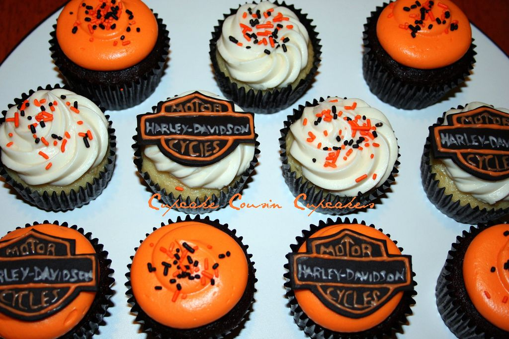 Harley Davidson Cupcakes With Images Cupcake Cakes Motorcycle