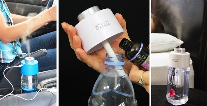 Portable Humidifier | Fits Most Water Bottles | Portable