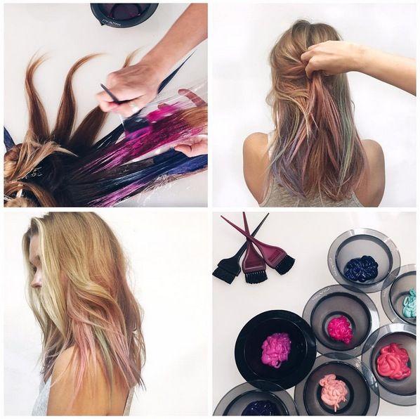 Mermaid Dess Blue Ombre Hair Color Ideas