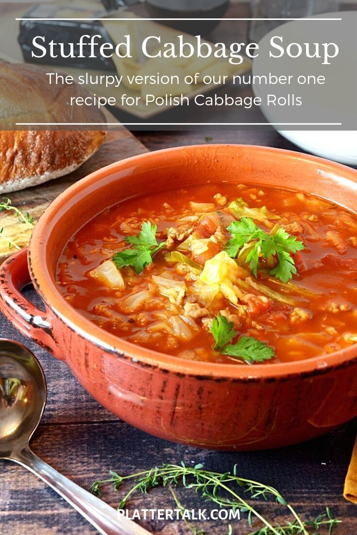 Cabbage roll soup is the slurpy version of our number one