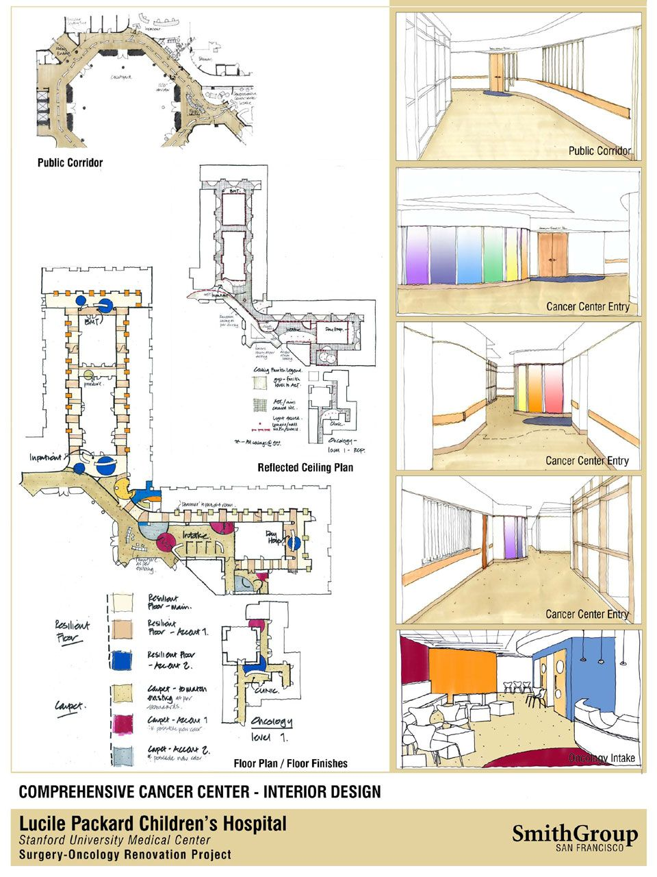 oncology center floor plans oncology intake