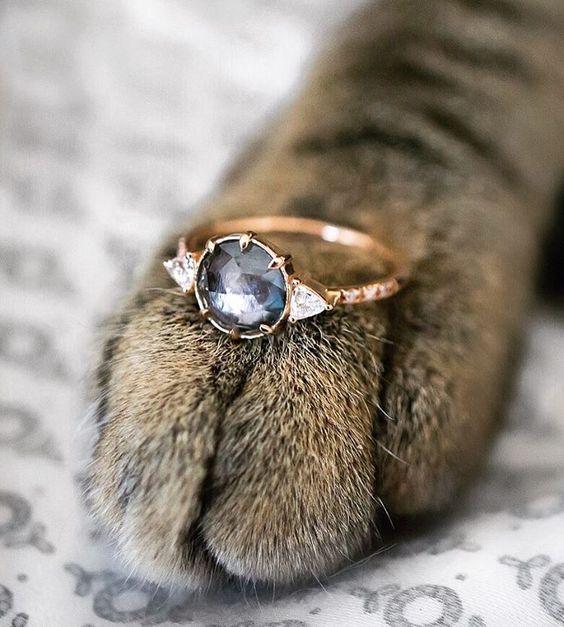 I'm 100% sure I'd say yes ✨. Would you? A rose cut Grey Sapphire ethically…