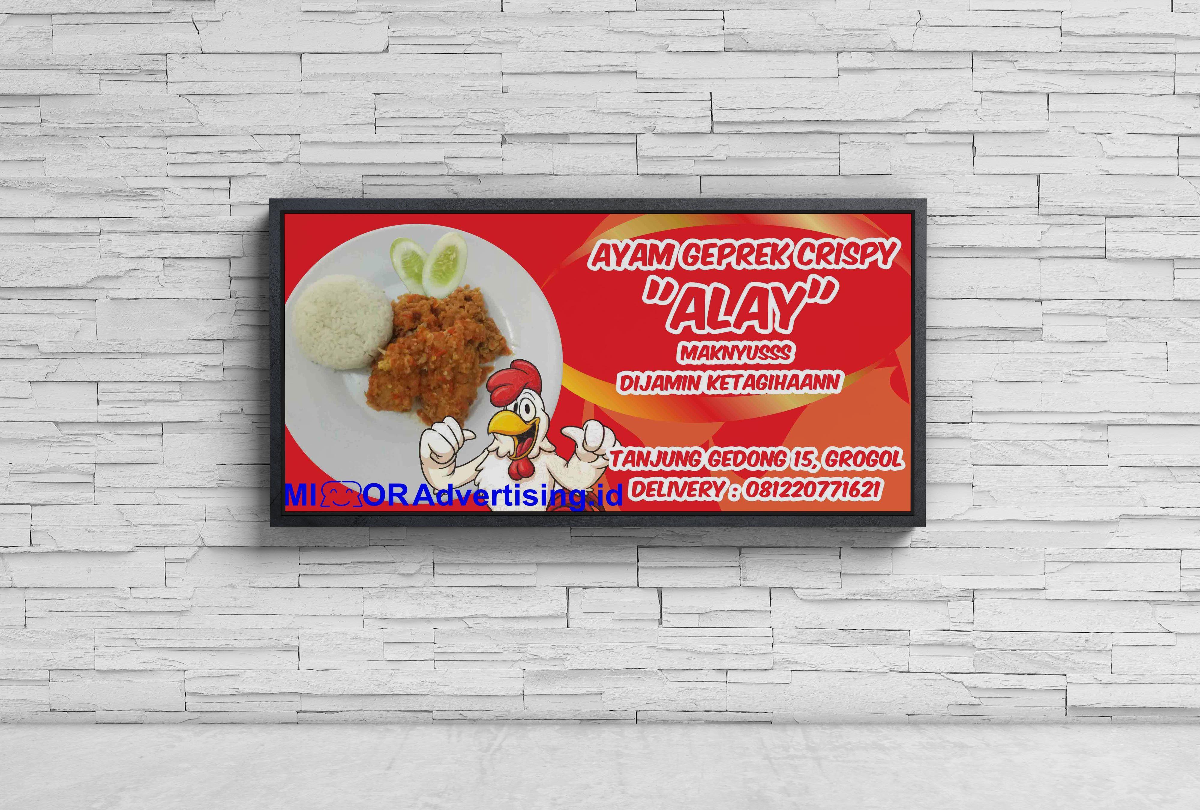 Contoh Spanduk Ayam Geprek - gambar spanduk