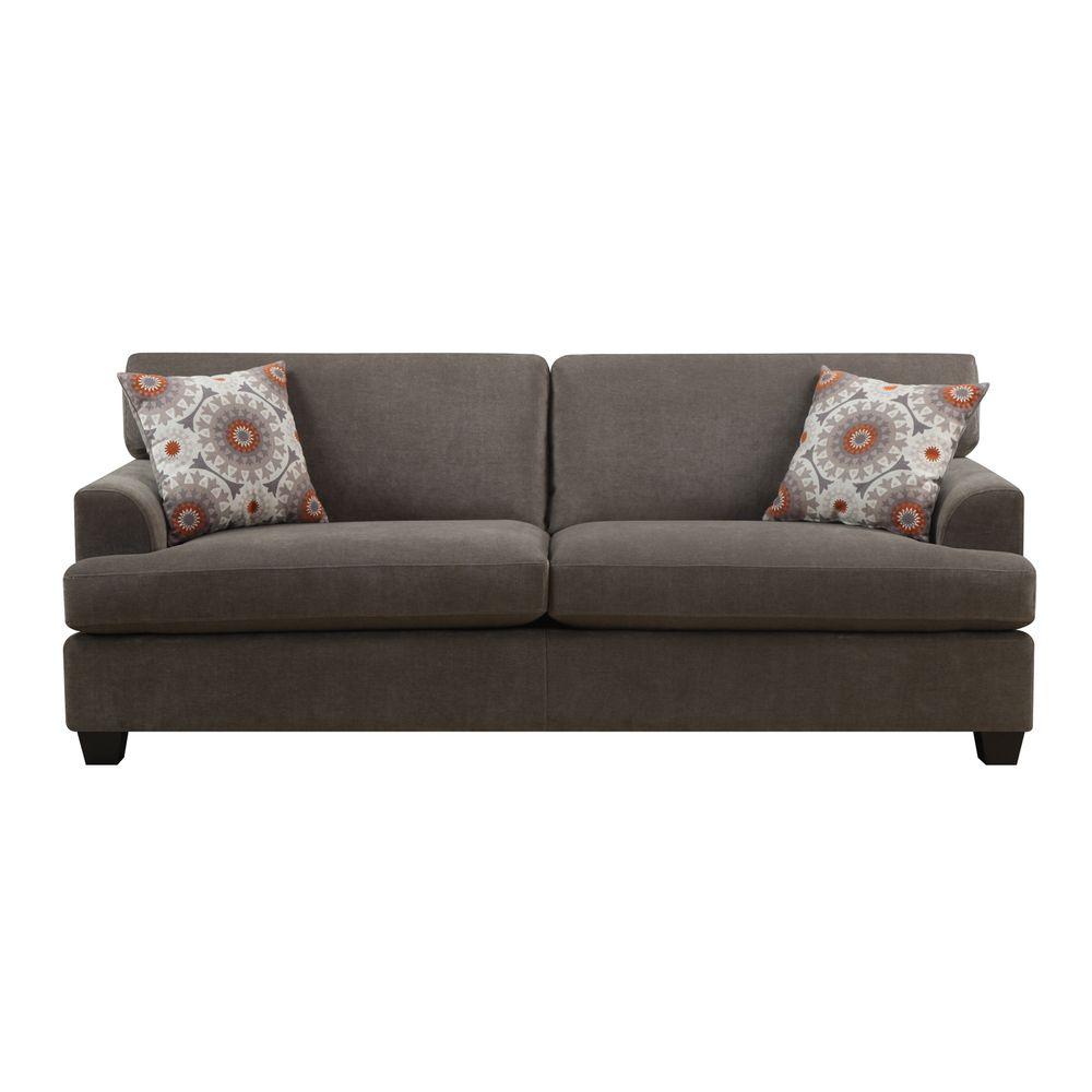 Emerald Lorena Platinum Grey 2 Pillow Sofa Ping Great Deals
