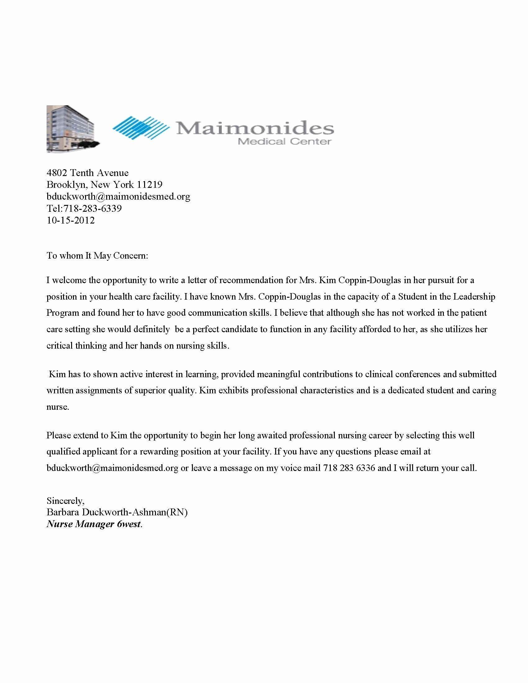 Referral Letter Sample Medical